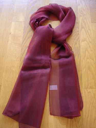 Echarpe rouge en mousseline de soie sparkling. Description. SCINTILLANTE.  Article fabriqué en France ... 2796648aecf