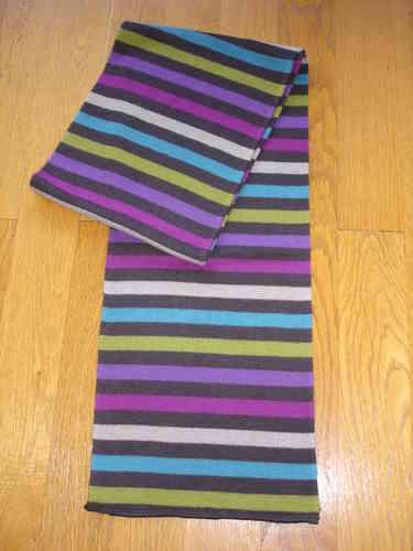 Echarpe rayée unisexe marron, rose, violette, verte, bleue, beige MARC  ROZIER fbe800d89ec2