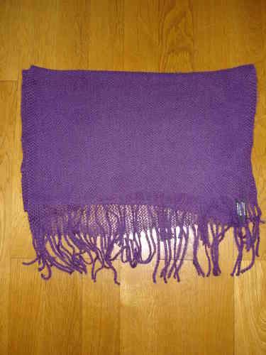 Echarpe en maille filet violette - soiedelyon.com ce95552abcf