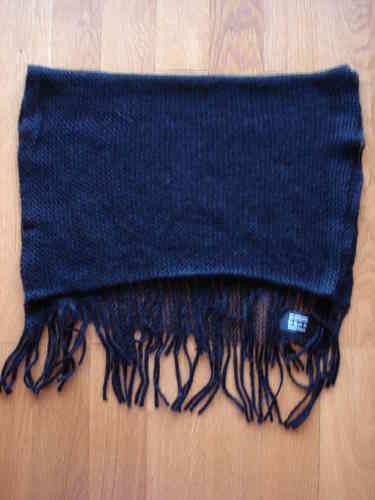 Echarpe en maille filet noire - soiedelyon.com 2bac4841146